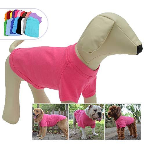 longlongpet 2019 Haustier-Kostüme für Welpen, Hunde, unbeschriftet, T-Shirt, T-Shirts für große, mittelgroße und kleine Hunde, 100% Baumwolle, 18 Farben (Halloween-kostüm Besten 2019)