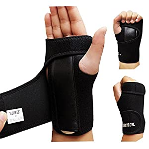 AOLIKES Wrist Splint Support Hand Palm Brace for Carpal Tunnel Tendonitis RSI Arthritis Sprains Strain NHS