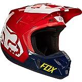 FOX V2 Preme MX Helm XS (53/54) Schwarz/Rot/Weiß