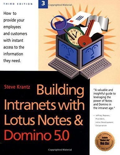 Building Intranets With Lotus Notes & Domino 5.0 by Krantz, Steve (2000) Paperback