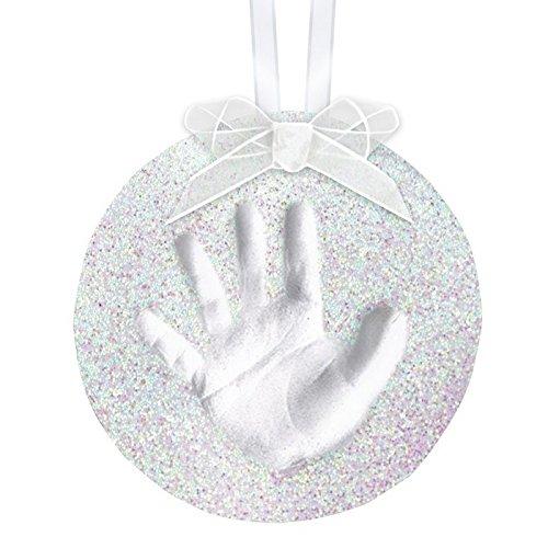Pearhead Babyprints Handabdruck oder Fußabdruck Andenken Ornament, Silber
