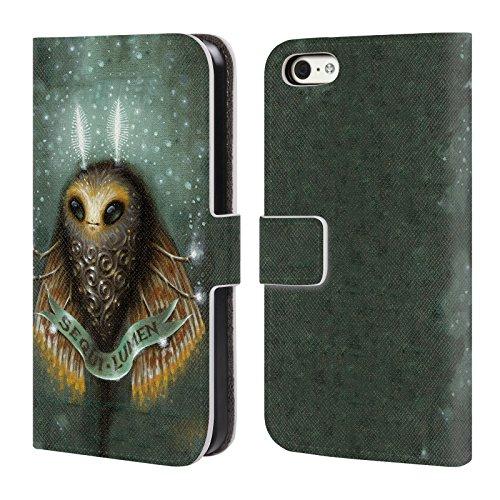 Head Case Designs Offizielle Jason Limon Avantgarde Licht Aliens Brieftasche Handyhülle aus Leder für iPhone 5c