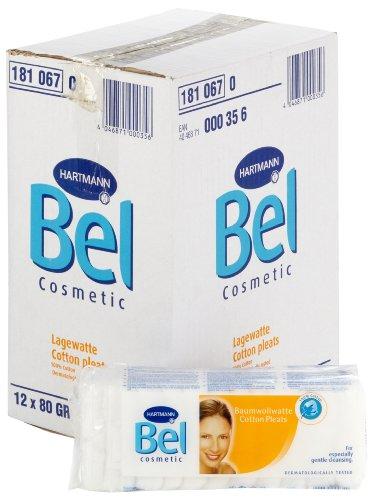 Bel 181067 Maquillage Coton Laine plissés Lot de 12 paquets de 80 g