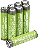 AmazonBasics AAA High-Capacity Rechargeable Batteries, (8-Pack) Pre-charged (Appearance may vary)