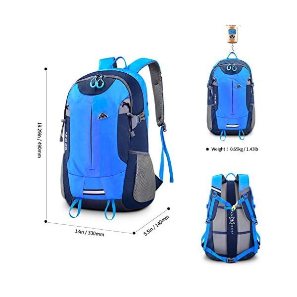 Zainetto da escursione Bonibol 35L, zaino da campeggio/viaggio/casual ultraleggero e resistente all'acqua 3 spesavip