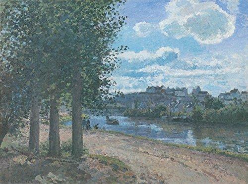 Spiffing Prints Camille Pissarro - Road by River - Medium - Matte - Brown Frame River Road Matte