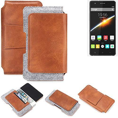 K-S-Trade® Gürteltasche Für Cubot S500 Gürtel Tasche Schutz Hülle Hüfttasche Belt Case Schutzhülle Handy Hülle Smartphone Sleeve Aus Filz + Kunstleder (1 St.)