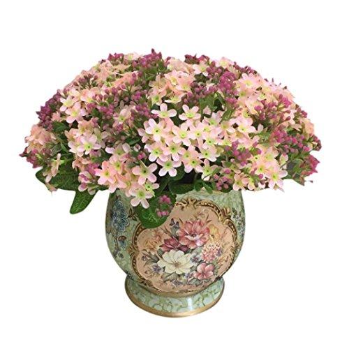 Coloré(TM) Feuille artificielle Rose Faux Soie Artificielle Fleur De Mariage Nuptiale Bouquet Décor À La Maison 72 Tête (Rose)