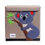 Trureey Scatole Giocattoli con Coperchio Pieghevole Resistente Cubo Scatola Portaoggetti Facile da Pulire e Organizzare Giocattolo Scatola Portaoggetti in Tessuto 33 x 33 x 33 cm (Koala)