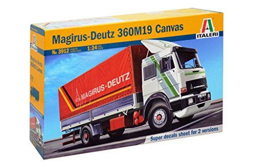 Italeri 3912 - magirus deutz 360m19 canvas truck model kit  scala 1:24