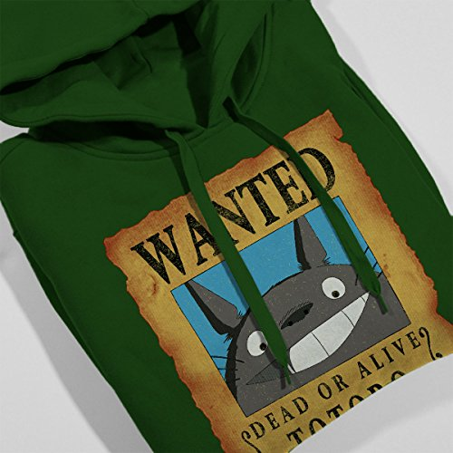 Wanted Neighbor Totoro Women's Hooded Sweatshirt Bottle Green