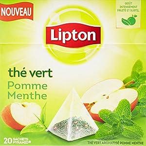 Lipton Thé Vert Pomme Menthe 20 Sachets 28g
