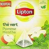 Lipton Thé Vert Pomme Menthe 20 Sachets 28 g