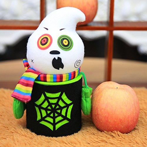 iTemer Halloween Dekoration Flanell Süßigkeit Behälter Schokolade Lagerung Verzierung Dosen 19*9cm Schwarze Katze/ Kürbis/ Geist/ Zombie (Schwarze Katze Halloween-verzierung)