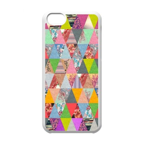 Stripe Retro Abstract Mosaic iPhone 5C Case, Sabcase Stripe Retro Abstract Mosaic Personalized Hard Back Case for iPhone 5C