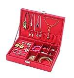 Bigood Rectangle Boîte à Bijoux Simple Écrin Bracelet Collier Bagues Rangement Voyage