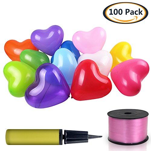 arben Party Luftballons Sortierte Ballons groß 12 Zoll für Festival Geburtstag Hochzeit Dekorationen mit gelegentlicher Luftballonpumpe Ballonpumpe und 250 yard Band 320g/bag (Rabatt Baby-dusche Dekorationen)