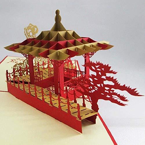 Beito 3D-Karten, reg; 3D-Pop-Up-Karten Fantastische Blumen Handmade Kirigami Papier Valentine Liebhaber alles Gute zum Geburtstag Jahrestag Karten Geschenke für Einladung Wedding Love (O)