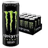 Monster Energy Flavour Export mit Honignote - für mehr Energie in handlicher Größe - ideal zum mitnehmen/Energy Drink Palette mit 12 x 335ml Dosen
