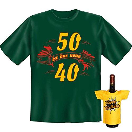 Fünfzig ist das neue Vierzig 50 Goodman Design® Shirt mit coolem Aufdruck Gr: Farbe: dunkelgrün Dunkelgrün
