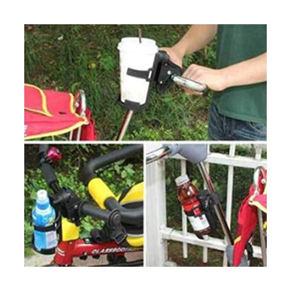 Sunnyflowk Baby Stroller Bottle Holder Child Car Accessories Bicycle Adjustment Clip (Black) Sunnyflowk  4