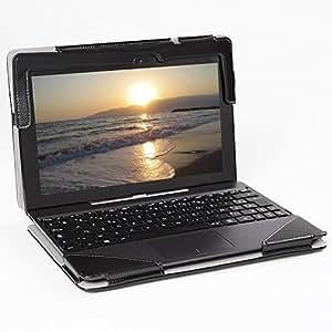 Housse simili-cuir noire pour Notebook Asus Transformer Book T100 T100TA