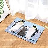Baisheng Cute Animal Antarctic Penguin Pattern Rutschfeste Badematte/Küchendecke/Schlafzimmermatte Wasserabsorbierend Schnell trocknend (Pinguin 20-19.7x31.5 Zoll /50x80cm)