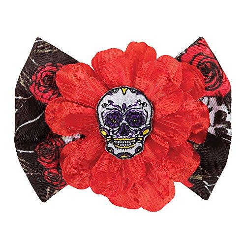 Bristol Novelty BA517 Day of The Dead Haarspange, Damen, (Männliche Leiche Kostüm)
