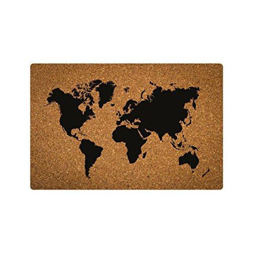 Invero Tabla Corcho Mapa Mundo Colgante Pared Decoración