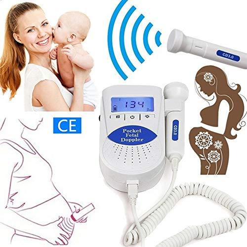 Fetale Überwachung (xinxufeng Home fetale Herzfrequenz schwangere Frauen Stethoskop ohne Strahlung fetale Herzfrequenz, tragbare Heimgebrauch Baby Sounds Listener Babymonitor Verstärker)