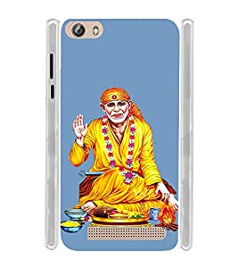 Lord Shirdi Sai Baba Sab Ka Malik Ek Soft Silicon Rubberized Back Case Cover for Gionee Marathon M5 Lite