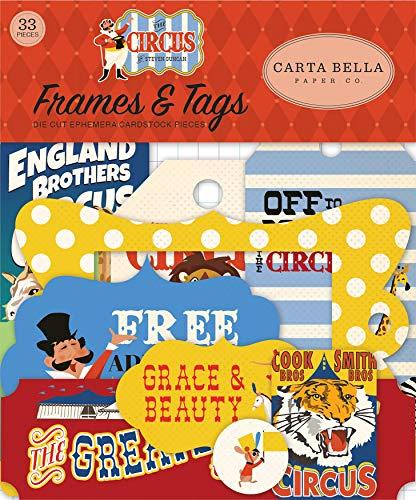 Carta Bella Paper Company Zirkus-Emaille-Punkte, Rot, Orange, Creme, Gelb, Schwarz