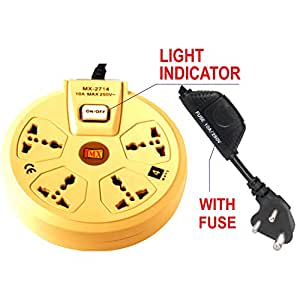 Mx 3 Pin Converter Multi Plug Adaptor For All Countries With Surge Protector
