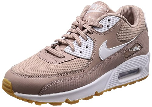 NIKE Air Max 90, Scarpe Running Donna, (Diffused Taupe/White/Gum Light Brown 210), 38.5 EU