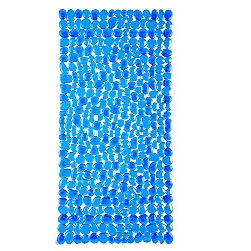 DomoWin Badewannenmatte, Badematte mit 167 Saugnäpfen rutschfeste Badewanneneinlage Duschmatte Steinoptik Modern 88 x 40 cm (Blau, 88 x 40 cm)