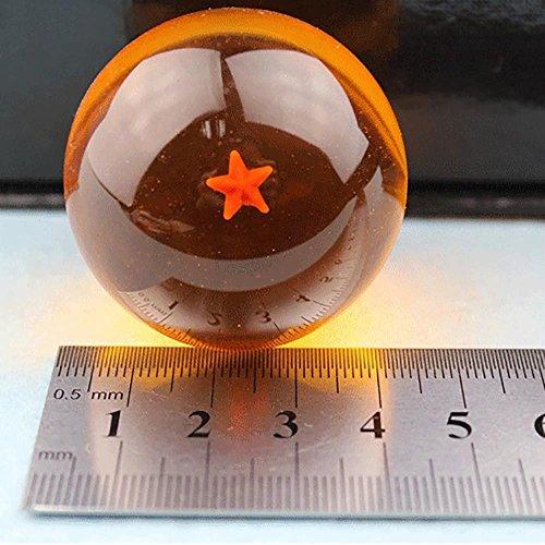 WEKA 1 Juego 3,5cm acrílico cristal de 7 Pelota /En Caja 7 Estrellas