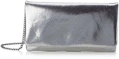 s.Oliver (Bags) 7f.709.94.4478 - Pochette da giorno Donna, Silber (Silber Metallic), 3x13.5x26 cm (B x H T)