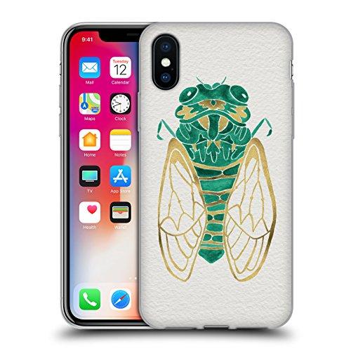 Ufficiale Cat Coquillette Nero oro Scorpione Insetti Cover Morbida In Gel Per Apple iPhone 6 Plus / 6s Plus Cicala oro verde