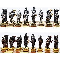 WIVION Juego de Ajedrez Internacional de Ajedrez Estándar Piezas Piezas de ajedrez reemplazo del Torneo del Juego del Juguete con Queens Kings Castles Caballeros DELE a su Hijo, Pirate