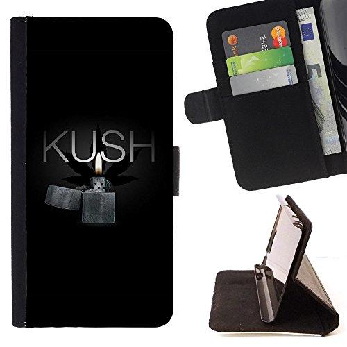 Graphic4You Gras Marihuana Raucher Kush Brieftasche Leder Dünn Hülle Tasche Schale Schutzhülle für Samsung Galaxy S9+ (Galaxy S9 Plus)