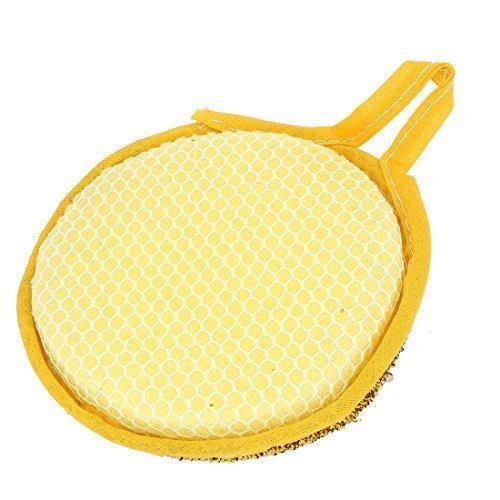 sourcingmapr-jaune-or-ton-eponge-bol-plat-tampon-a-recurer-lingette-nettoyante-pour-cuisine