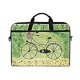 Ahomy 38,1–39,1cm Laptop Laptop, Persönlichkeit Bike Reisen Canvas Stoff Tasche zudem Handtasche mit Schultergurt für Damen und Herren