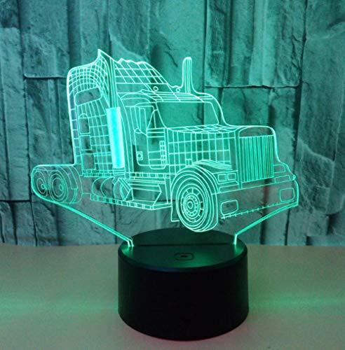 3D Optical Illusion Lampe Lkw 7 Farben Einzigartige Lichteffekte Usb Power Touch Tischlampe Beste Geburtstagsgeschenke Für Jungen Mädchen Kinder Baby - Jungen Wie Lkw-lampe