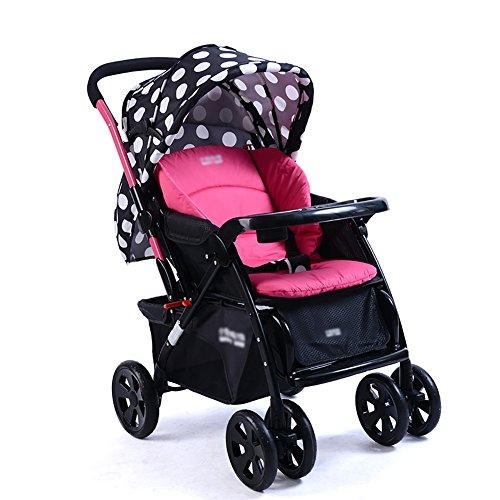 Poussette ERRU bébé peut s asseoir inclinable léger pli extérieur systèmes  de voyage en acier 23eac81d08e