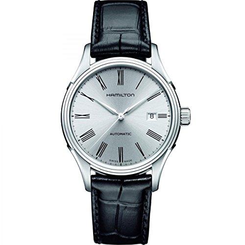 hamilton orologio analogico automatico uomo con cinturino in pelle h39515754