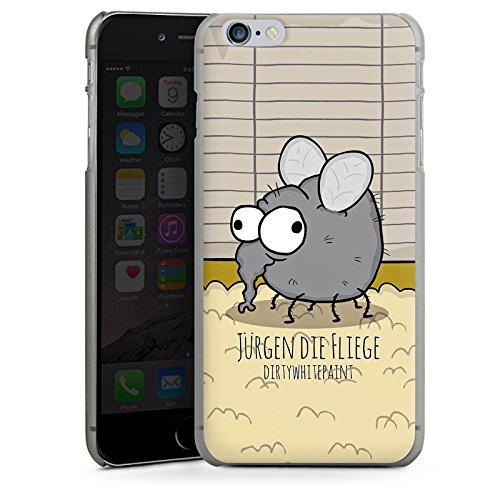 Apple iPhone X Silikon Hülle Case Schutzhülle DirtyWhitePaint Fanartikel Merchandise Jürgen die Fliege Hard Case anthrazit-klar