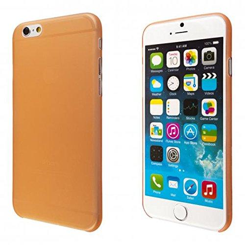 ECENCE APPLE IPHONE 6+ 6S+ PLUS (5,5) SLIM CASE SCHUTZ HüLLE HANDY TASCHE DüNN FLACH LEICHT COVER SCHALE 32030406 Orange