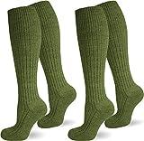 normani 2 Paar Herren ARMY KNIESTRÜMPFE mit Wolle Farbe in verschiedenen Farben Farbe Grün Größe 39-42