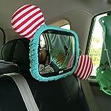 DOGIGIE Baby-Spiegel für Auto - groß, Weit, Klare Sicht - Unzerbrechliche 360 Swivel Backseat Mirrors Hilft Ihnen, Ihr Kind Oder Kind im Auge zu Behalten, Blue