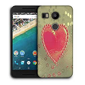 Snoogg Small Heart Printed Protective Phone Back Case Cover For LG Google Nexus 5X